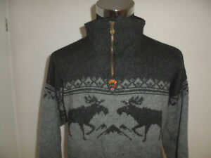 vintage-DALE-OF-NORWAY-Strickpullover-Norweger-Pullover-hippie-Wolle-Gr-XL