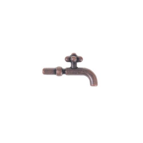 2PCS 1:12 Miniature Metal Water Tap Dollhouse Bathroom Faucet Accessories CYCA