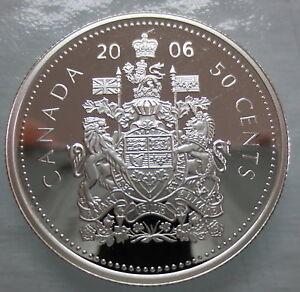 2006-CANADA-50-CENTS-PROOF-SILVER-HALF-DOLLAR-HEAVY-CAMEO-COIN