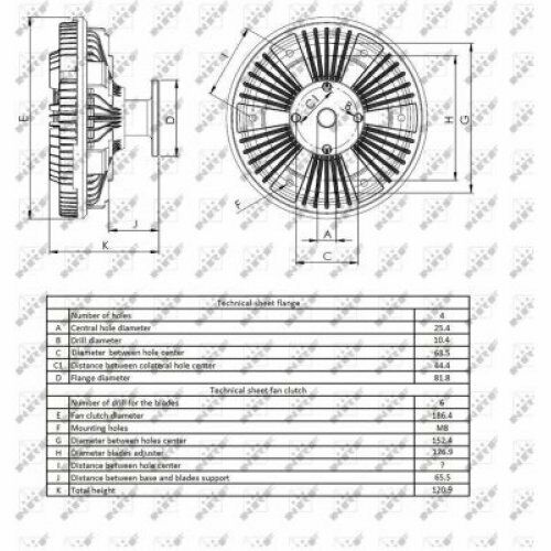 Lüfterkern//Viscokupplung für JOHN DEERE 6520  NRF