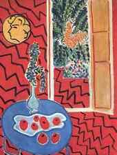 Henri Matisse Interior Rojo, todavía en una mesa Azul A4 Foto impresión