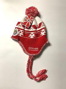Chivas Peruvian Beanie Pom Mexico Knit Hat Cap Chivas Rayadas de Guadalajara