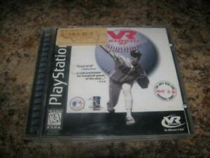 VR-Baseball-039-97-1997-Sony-Playstation-1-PS1-Game-Complete