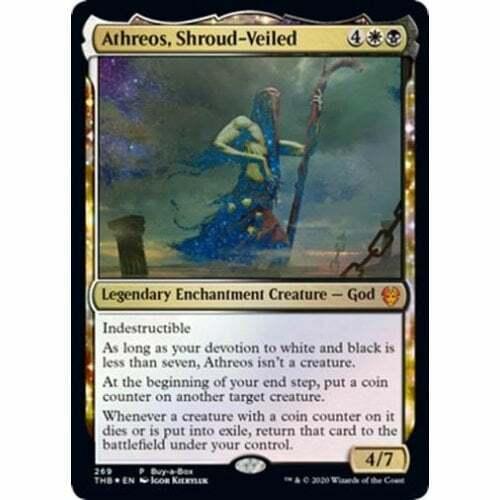 FOIL NM Card Athreos Shroud-Veiled Theros Beyond Death MTG
