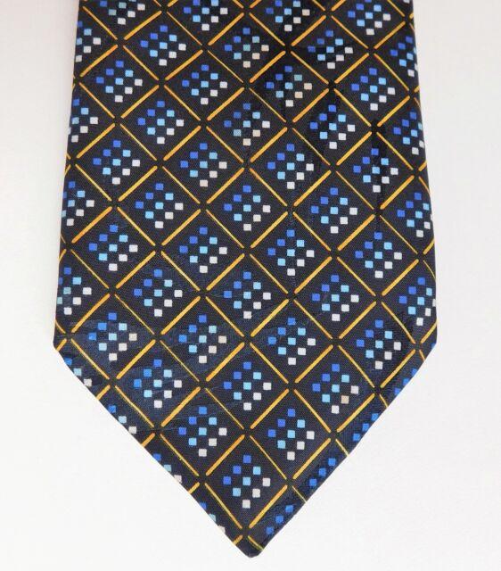Smart blue check tie by Burton Mens Wear vintage 1980s 1990s