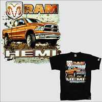 Licensed Dodge T-shirt Pickup Ram Hemi Truck Emblem Logo 0050