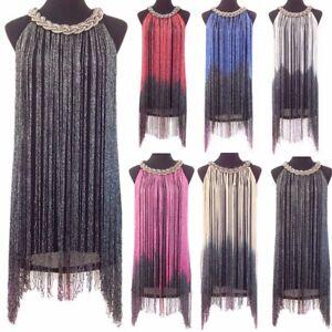 Women-039-s-1920-039-s-Flapper-Dress-Gatsby-Long-Swinging-Fringe-Tassel-Cocktail-Dresses