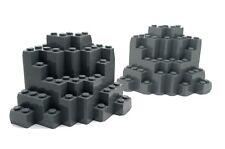 23996 2 x LEGO Dark Bluish Gray Rock Panel 8 x 8 x 6 Medium Symmetric MURP