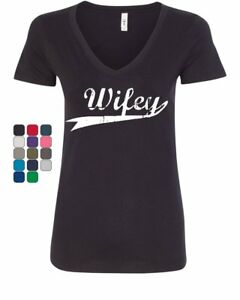 Wifey-Cute-V-Neck-T-Shirt-Bride-Wedding-Wife-Marriage