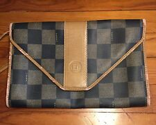 Vintage *Fendi* Envelope purse 2 in 1 Checker pattern - crossbody