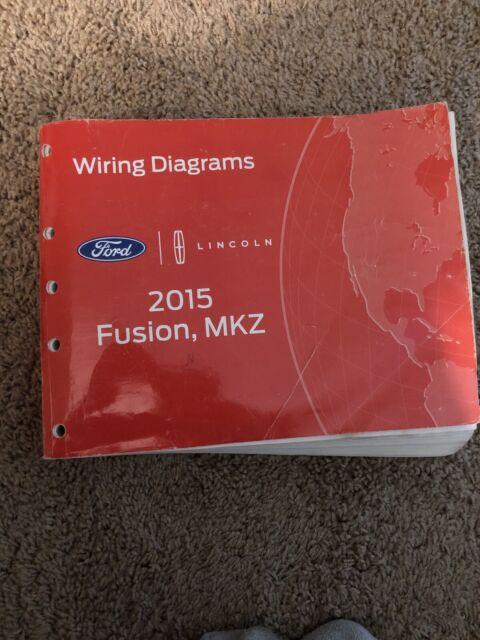 Oem Ford 2015 Fusion Shop Manual Wiring Diagram Book Nos