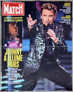 Johnny Hallyday - Affiche Paris Match - Johnny a allumé Paris 59 x 78 cm - France - Johnny Hallyday - Affiche Paris Match - Johnny a allume Paris 59 x 78 cm Bon état général, traces de manipulations, quelques plis - France