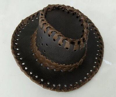 17inches sugar leather cowboy hat for michelin man doll Figure Bibendum
