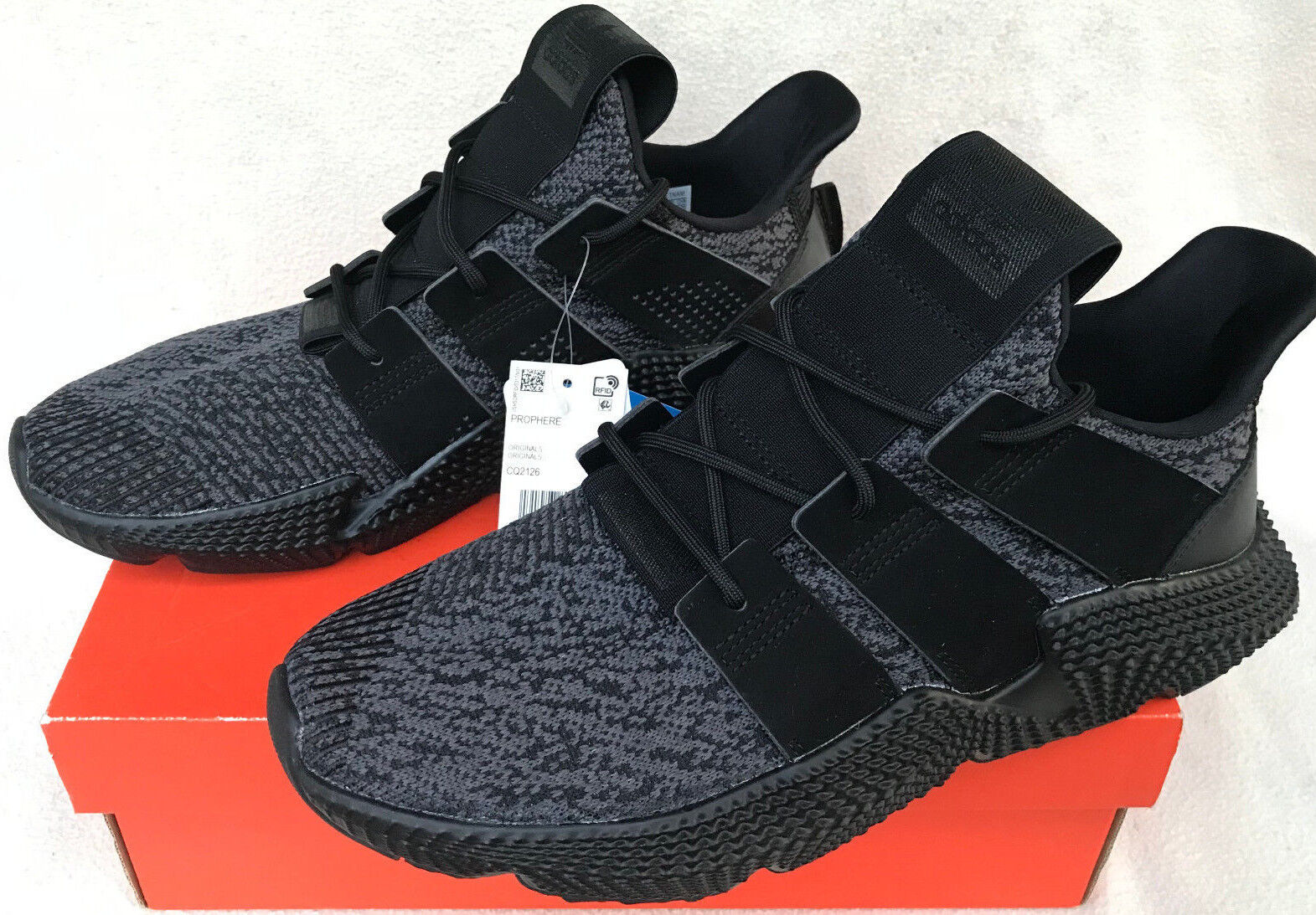 Adidas Prophere CQ2126 Ortholite Core Black Knit Street Sneakers shoes Men's 13