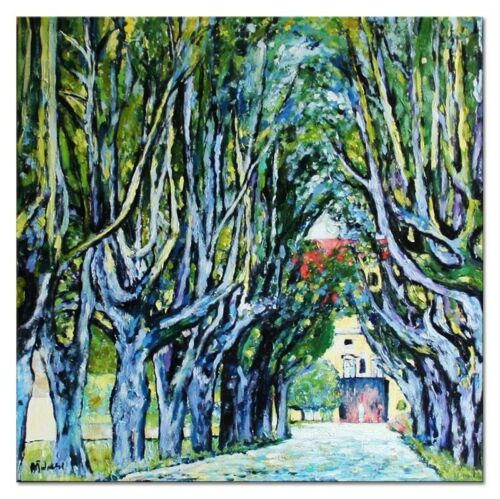 Gustav Klimt-60x60cm Ölgemälde Leinwand Signiert G04202