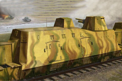 01509 Trumpeter 1 35 Model BP-2 Railway Panzer Fire Support Train Vehicle Car