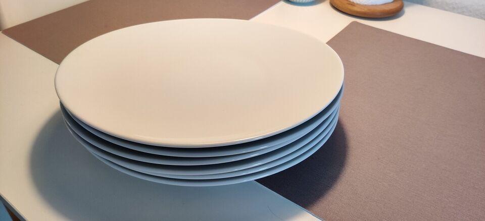 Porcelæn, Flotte Hvide Tallerkener 6 stk, CASA