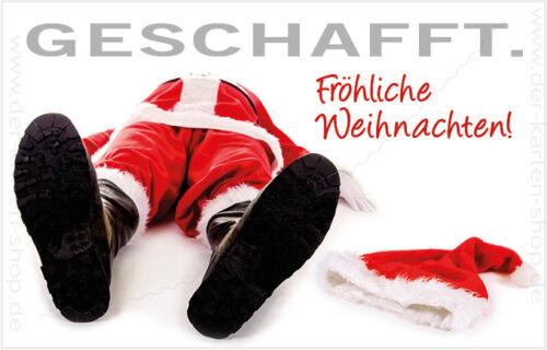 """Magnet Weihnachten Weihnachtsmann Nikolaus /""""Geschafft/"""" Kühlschrank Magnete"""