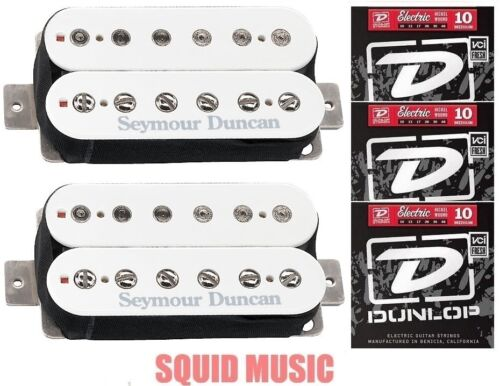 3 FREE STRING SETS Seymour Duncan Distortion SH-6 Mayhem White Pickup Set
