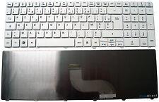 Clavier Français AZERTY pour portable PACKARD BELL Easynote LM82 Blanc