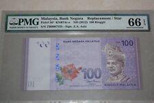 (PL) RM 100 ZB 0007535 PMG 66 EPQ 3 ZERO LOW FANCY NUMBER REPLACEMENT GEM UNC