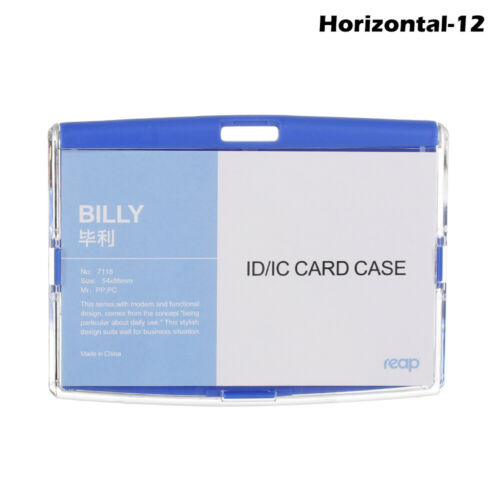 Pocket ID Card Holder Employee Badge Holders Protective Shell Cards Protector