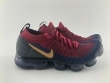 Nike Air Vapormax Flyknit 2 Team Red Wheat Obsidian 942842-604 Men's Size 10