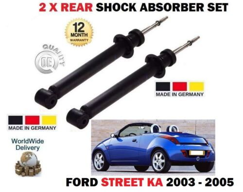 FOR FORD STREET KA 1.6 CABRIO 2003-2005 2 X REAR LEFT RIGHT SHOCK ABSORBER SET