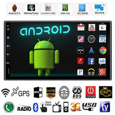 "Camera 7/"" Double 2Din Android 4.4 Quad Core Car Stereo GPS Player Radio 3G Wifi"