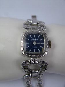 Vintage-Damen-Armbanduhr-Uhr-VEB-Uhrenwerk-Glashuette-70s-Handaufzug-Double