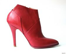 new $1175 Maison Martin Margiela 22 burgundy red leather ANKLE BOOTS shoes 39 9