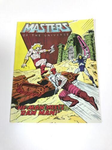 Vintage He-man Masters of the Universe Maitres de l/'univers mini comic HEMAN rencontre rapide ATTAQUE moto homme