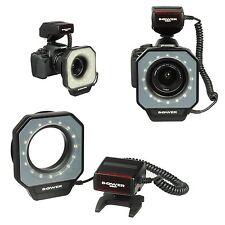 LED Macro Ring Flash Light For Canon Nikon Pentax Olympus DSLR Camera 67mm-77mm