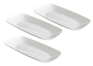 Corelle-3pcs-pure-white-serve-serving-platter-tray-plate-10-5-034-crazy-sale