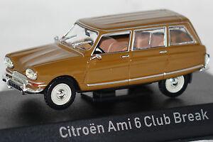 Citroen-Ami-6-Club-Break-1968-dunkel-gold-1-43-Norev-neu-amp-OVP-153520