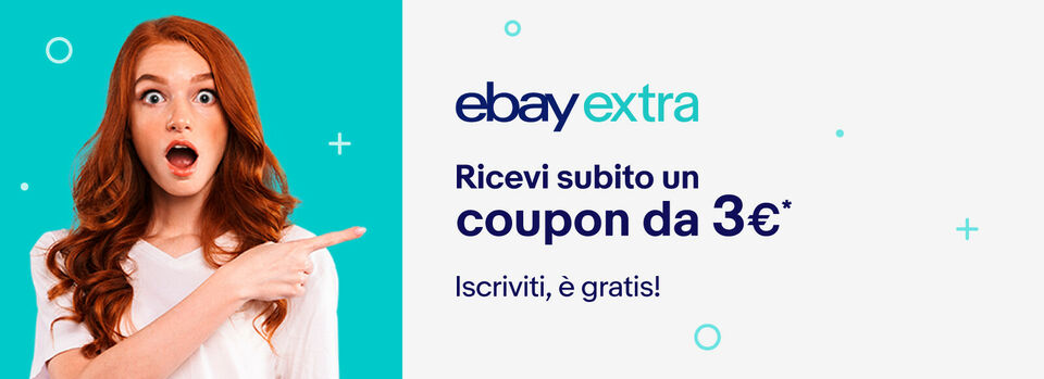 Entra nel club - Unisciti a eBay Extra e ricevi 3€* di sconto!