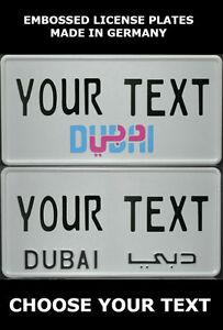 Details About Dubai Arab Arabic Uae U A E Us Usa License Plate Number Plate Custom Alu