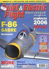 QUIET & ELECTRIC FLIGHT INTERNATIONAL MAGAZINE 2006 APR F-86 SABRE, FX-27