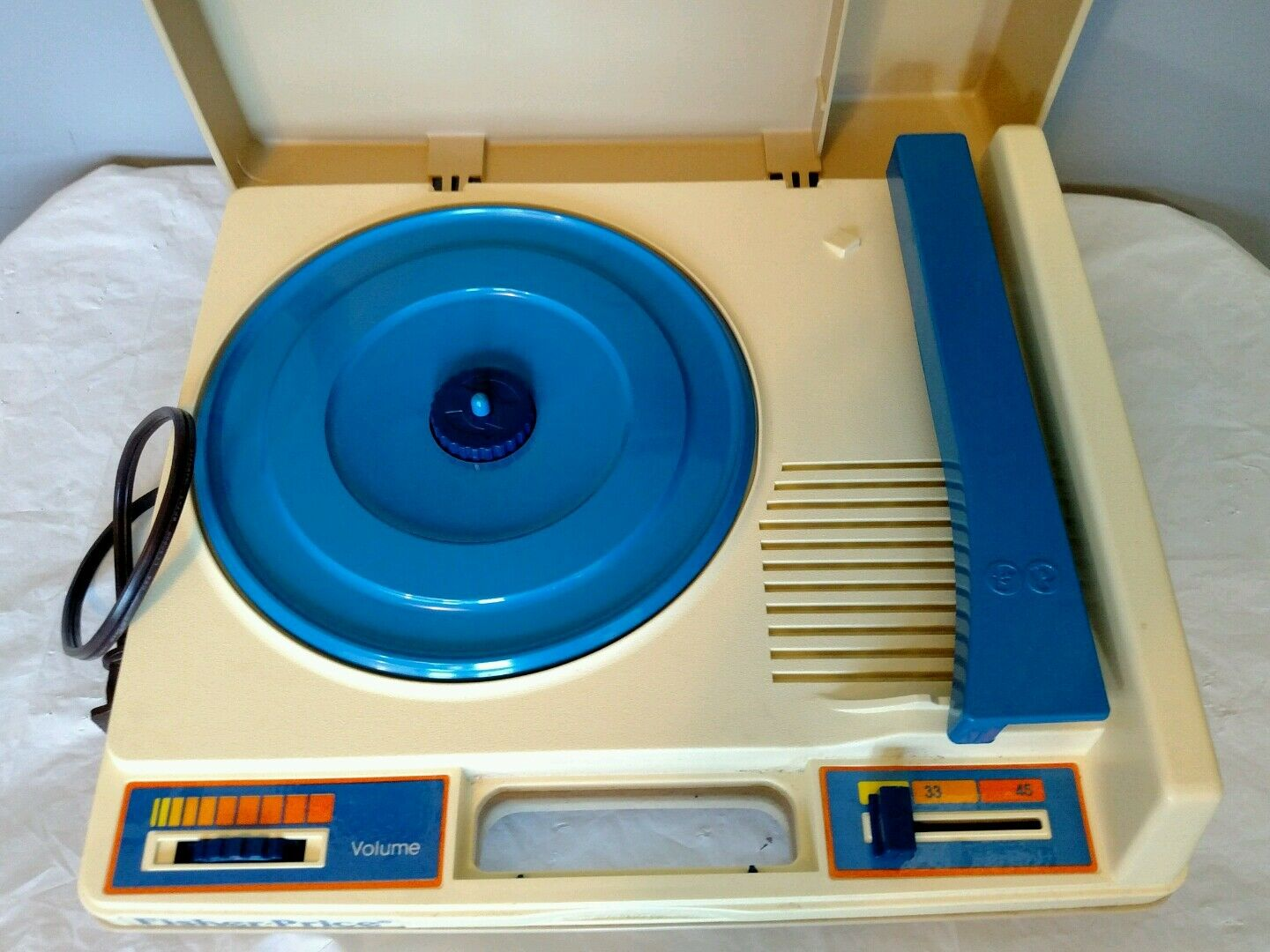 Vintage Fisher Price bluee Portable Phonograph Phonograph Phonograph Record Player Kid Turntable WORKS 07a411