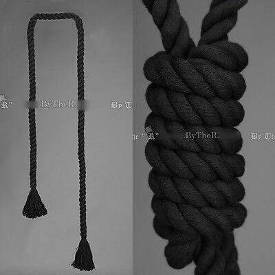 ByTheR Death Rope Belt Rope Type Avant-garde Black One size P0000EDH N