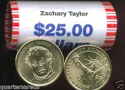 2009 Zachary Taylor Presidential $1 One Dollar Coin Rolls String Sealed