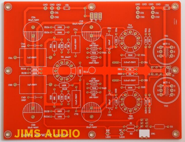 Tube RIAA phono stereo pre-amplifier premium PCB 834P very musical !