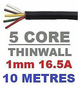 4m 2.5mm 29amp Twin Core Round Automotive Cable