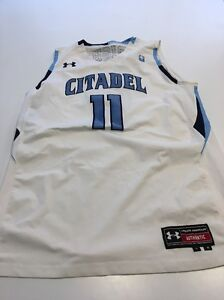 Game Worn Used Citadel Bulldogs Basketball Jerseys #11 UA Wright