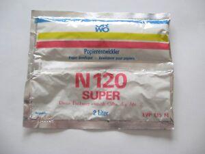 DDR-ORWO-Papierentwickler-N-120-SUPER-in-OVP-ungeoeffnet-2-Liter-Teil-1-und-2