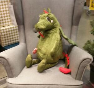 IKEA Flygdrake Dragon SOFT Plush Toy PUFF Harry P Dudley NWT Heart Green Xmas