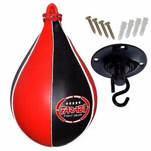 Boxing Training Blitz Leather Floor To Ceiling Speedball Black//Black /& Red