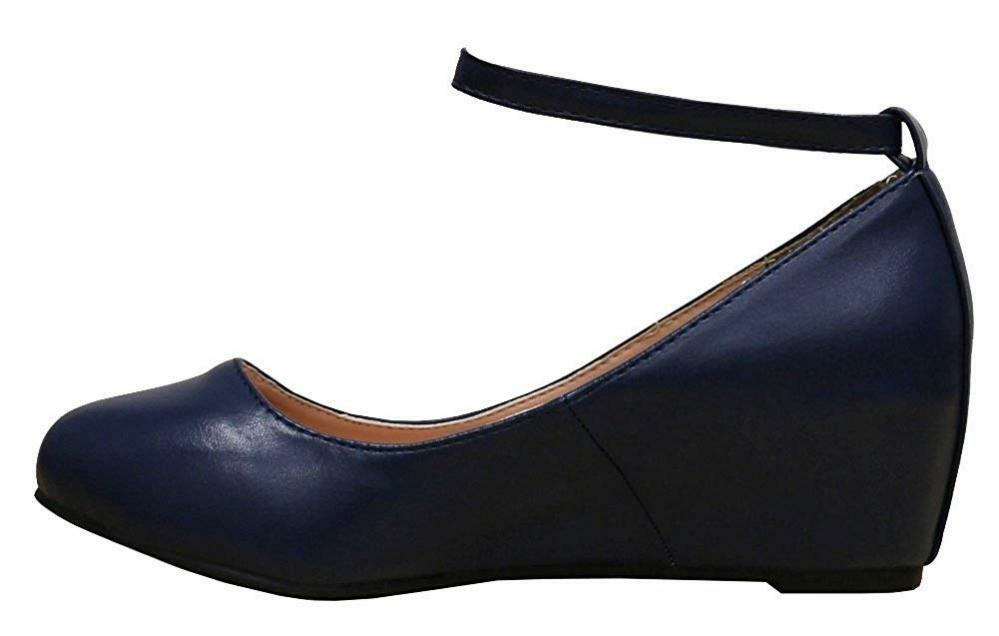 Cambridge Select Women's Ankle Strappy Buckle Buckle Buckle Round Closed Toe Wrapped Wedge 48ee5c