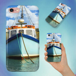 BLUE-BOATS-DOCK-FISHING-BOAT-HARD-BACK-CASE-FOR-APPLE-IPHONE-PHONE