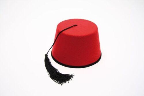 Türkenfez Fez Hut rot Karneval Zubehör zum Orient Kostüm an Fasching FM